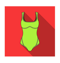 green swimsuit for women sporty swimsuit for vector image