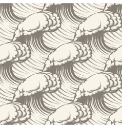 Hand Drawn Wave Seamless pattern vector image