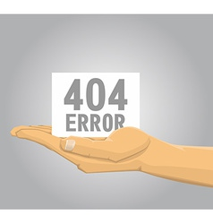 Hand holding a 404 error note vector