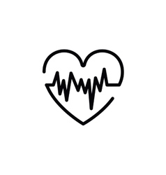 heartbeat symbol isolated icon design vector image