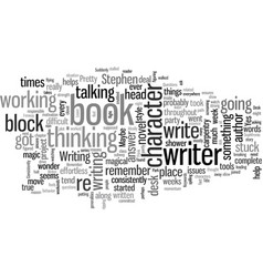 How to think through writer s block vector
