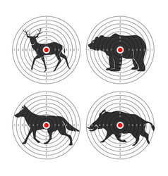 Hunting animal targets icons template for vector