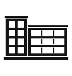 Industrial factory building icon simple style vector