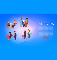interview background information on banner work vector image