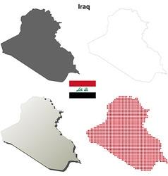 Iraq outline map set vector