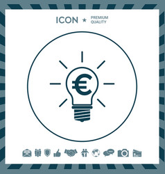 light bulb with euro symbol business concept vector image