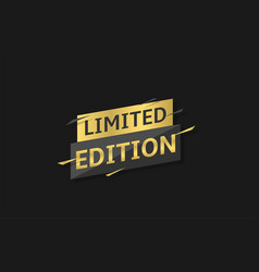 limited edition label vector image