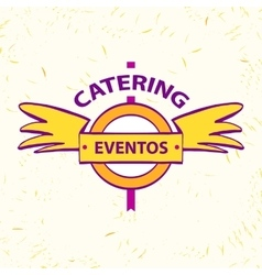 Logo for catering restaurant eventos vector
