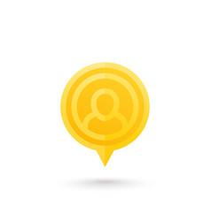 Man on pointer icon vector