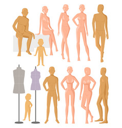 Mannequin dummy model for fashion dress and vector