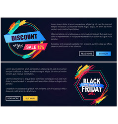 new offer black friday web on vector image