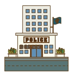 Police station icon image design vector
