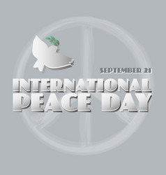poster for the international peace da vector image