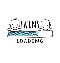 progress bar with inscription - twins loading vector image