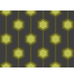 Retro Hexagons Green Seamless Tile vector