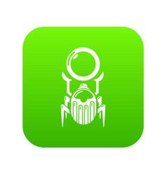 scarab icon green vector image