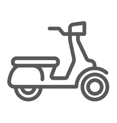 scooter line icon vehicle and transport vector image