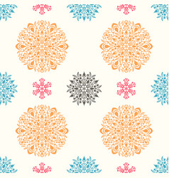 Seamless ornamental pattern vector