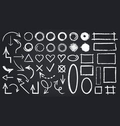 sketch chalk elements chalkboard elements vector image