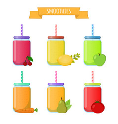 Smoothie to go take away organic shake drink vector