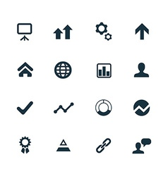 startup icons set vector image