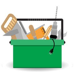 Toolbox with instrument vector image