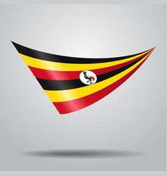 Ugandan flag background vector