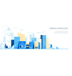 urban landscape city skyline background vector image