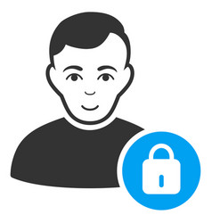 User lock icon vector