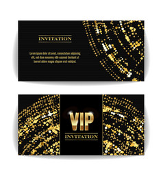 vip invitation card sequins round dots vector image