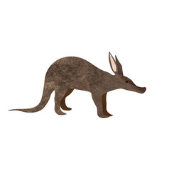 walking aardvark animal cartoon character isolated vector image