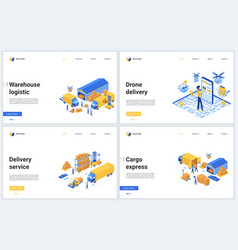 warehouse logistic tech service vector image