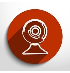 Web cam icon vector