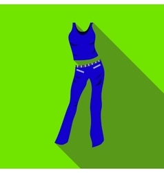 Woman pantsuit icon flat style vector image