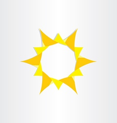 Yellow sun sunshine icon background design vector