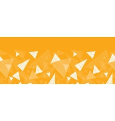 Yellow textured triangles horizontal border vector