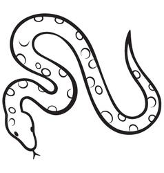 Black snake vector image vector image