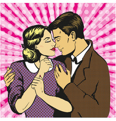 couple love dialogue man and woman in love vector image vector image