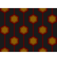 Retro Hexagons Red Seamless Tile vector image