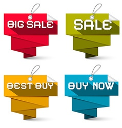 Sale Labels Set Isolated on White Background vector image vector image
