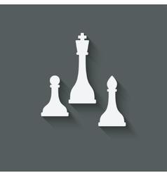 chess design element vector image