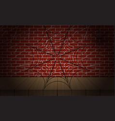 cobweb on brick wall as vector image vector image