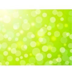 Green bokeh light background vector image vector image