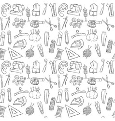 sewing seamless pattern background vector image vector image
