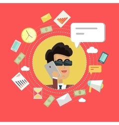 Creative Office Background vector image vector image