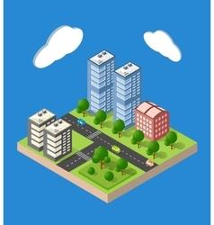 Isometric urban city vector