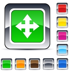 map square button vector image vector image