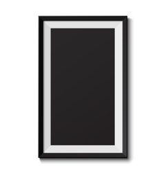 Realistic picture frame vector image vector image