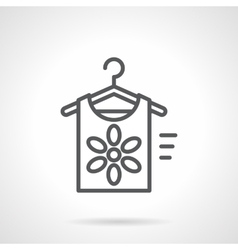 Summer clothing store black line icon vector image vector image