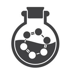 laboratory flask with molecule vector image